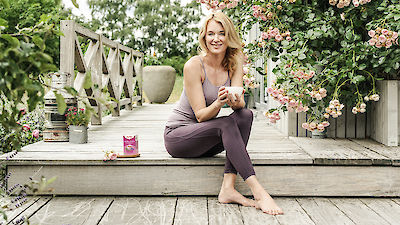 Exercice de yoga pour l'équilibre féminin