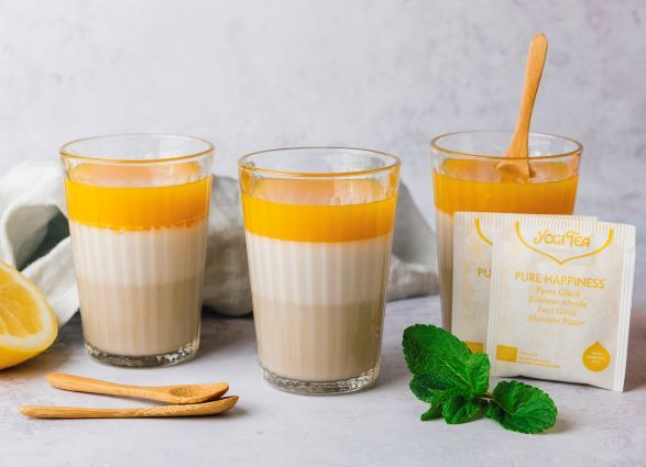 Coconut, orange and lemon panna cotta