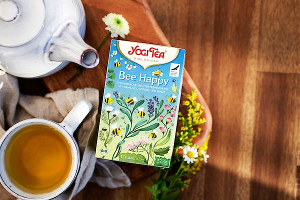 Our YOGI TEA® Bee Happy for a delicious and bee-friendly teatime